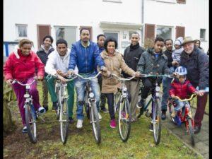 Gespendete Fahrräder sind eine große erste Hilfe